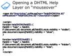 opening a dhtml help layer on mouseover