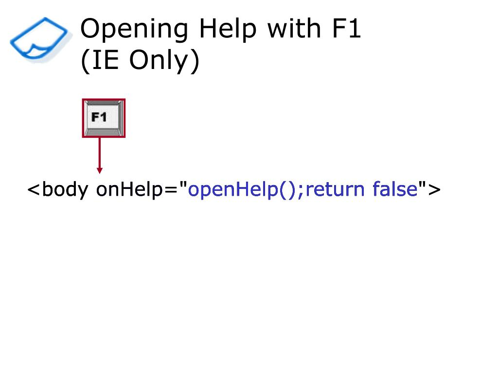 Opening Help with F1
