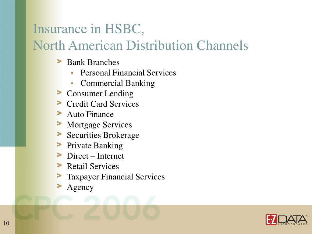 Insurance in HSBC,