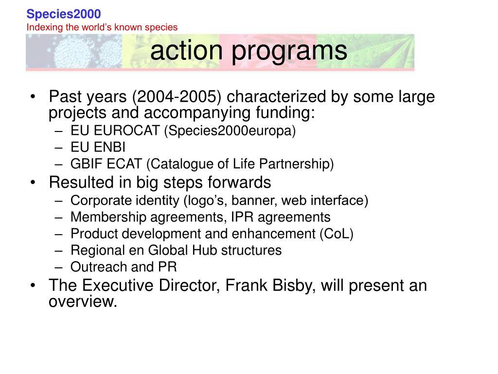 action programs