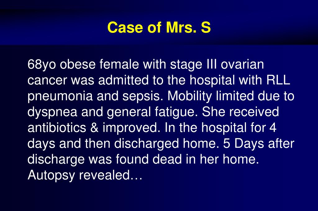 Case of Mrs. S