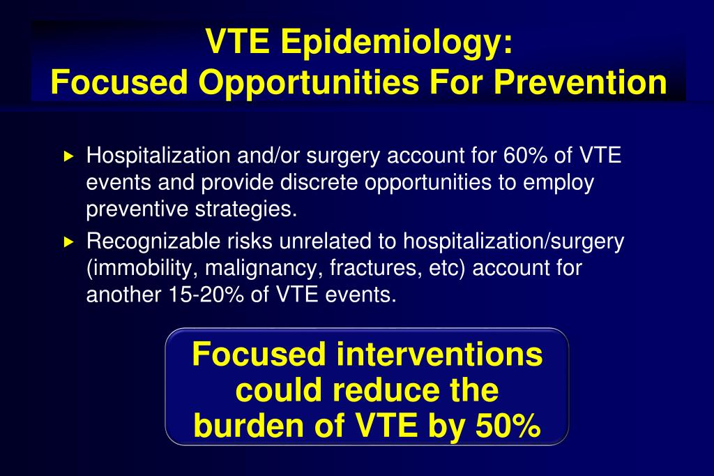 VTE Epidemiology: