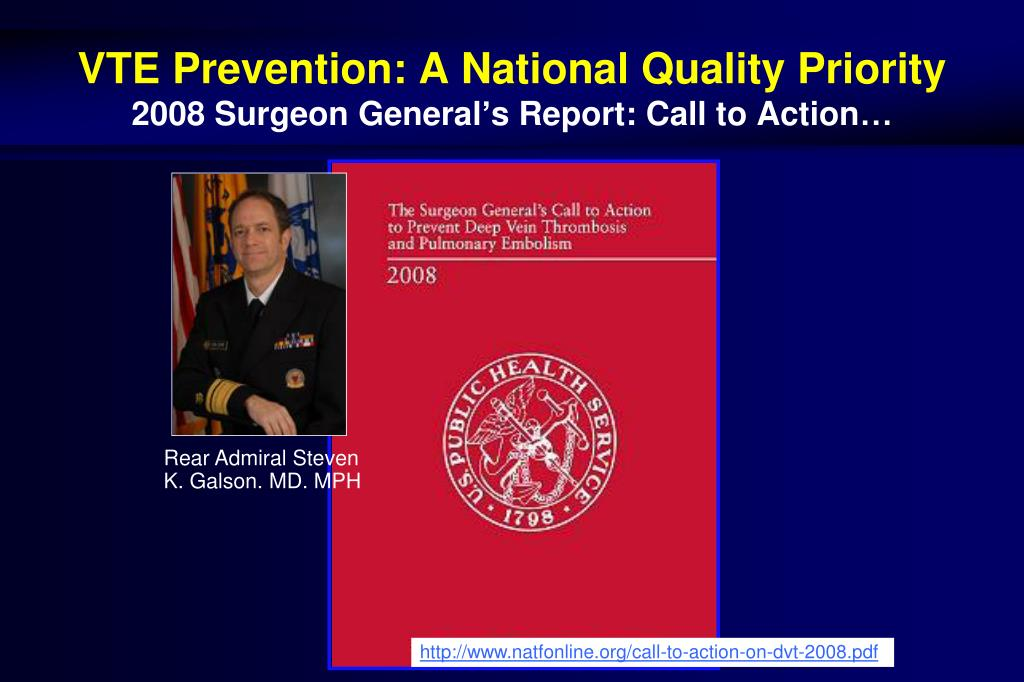 VTE Prevention: A National Quality Priority