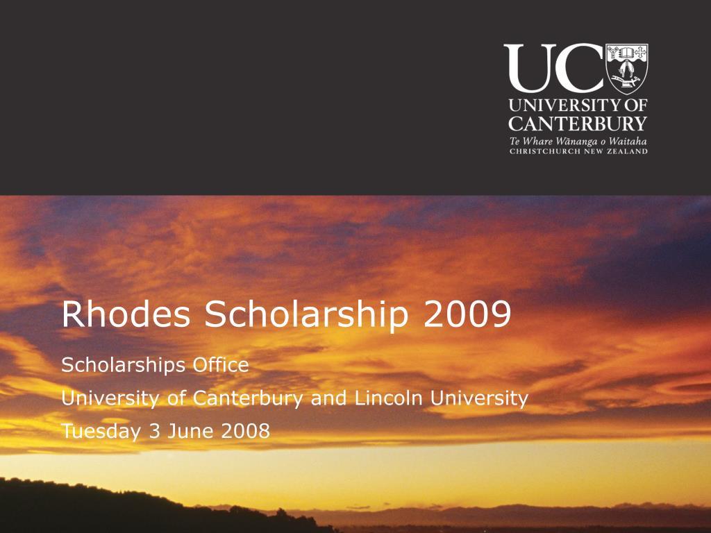 rhodes scholarship 2009