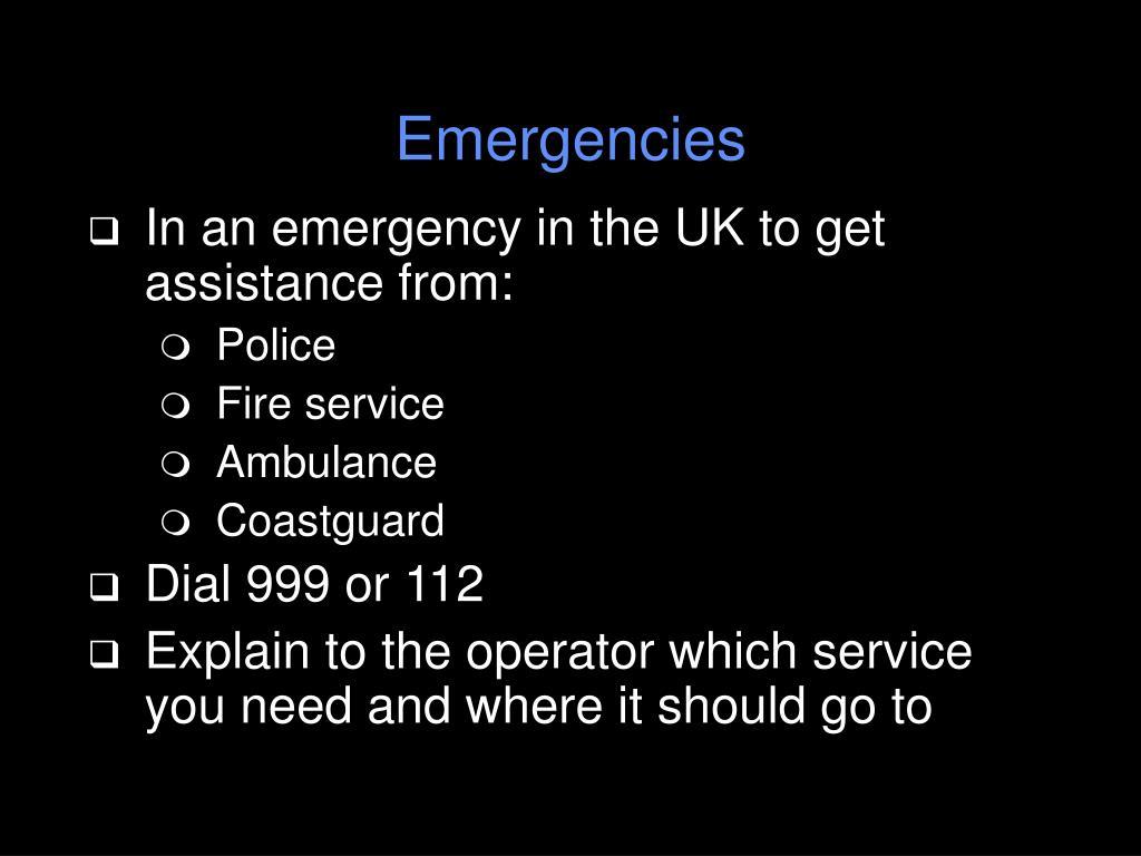 Emergencies