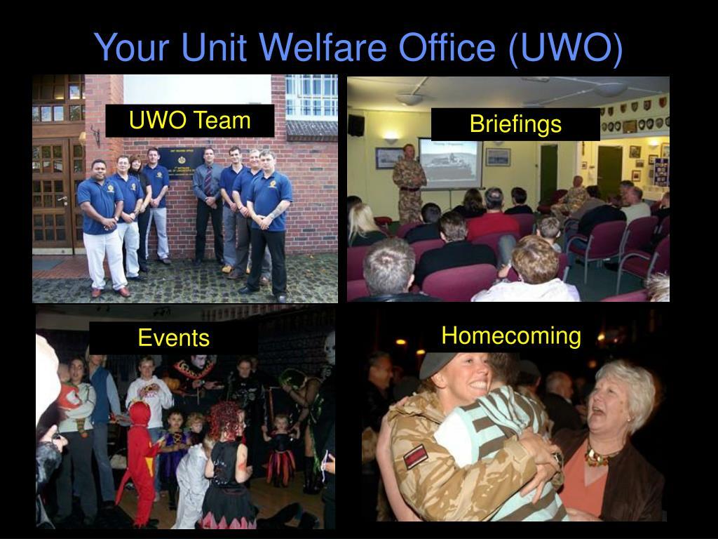 Your Unit Welfare Office (UWO)