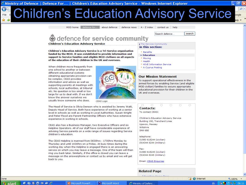 Children's Education Advisory Service