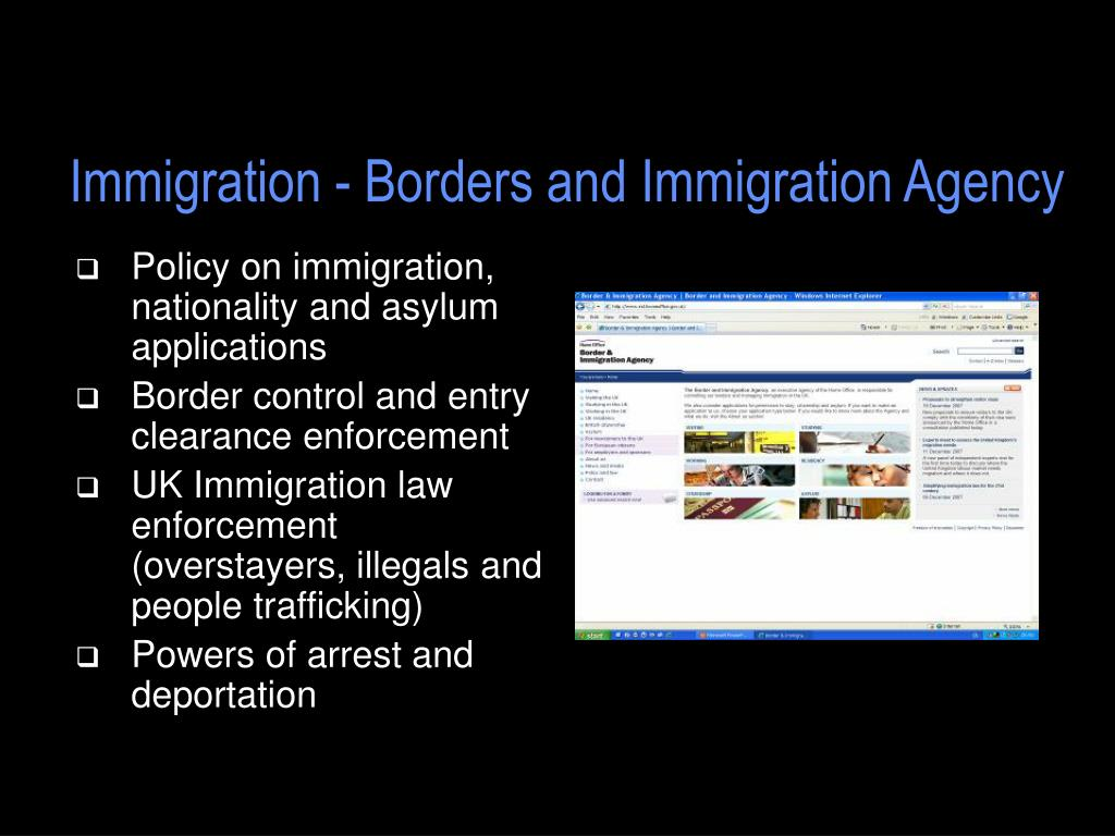 Immigration - Borders and Immigration Agency