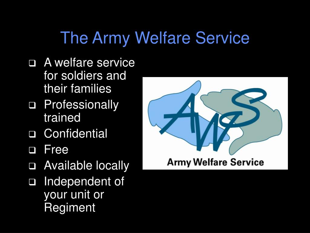 The Army Welfare Service