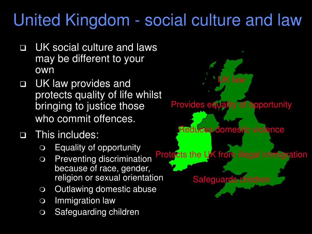 United Kingdom - social culture and law