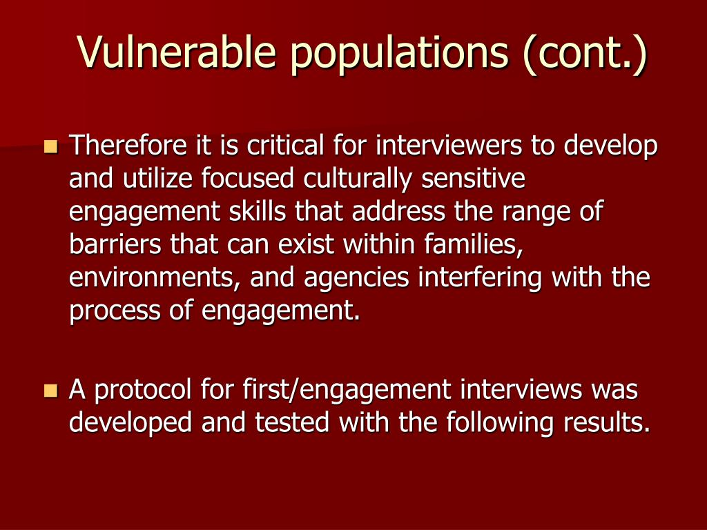 Safeguarding Vulnerable Populations