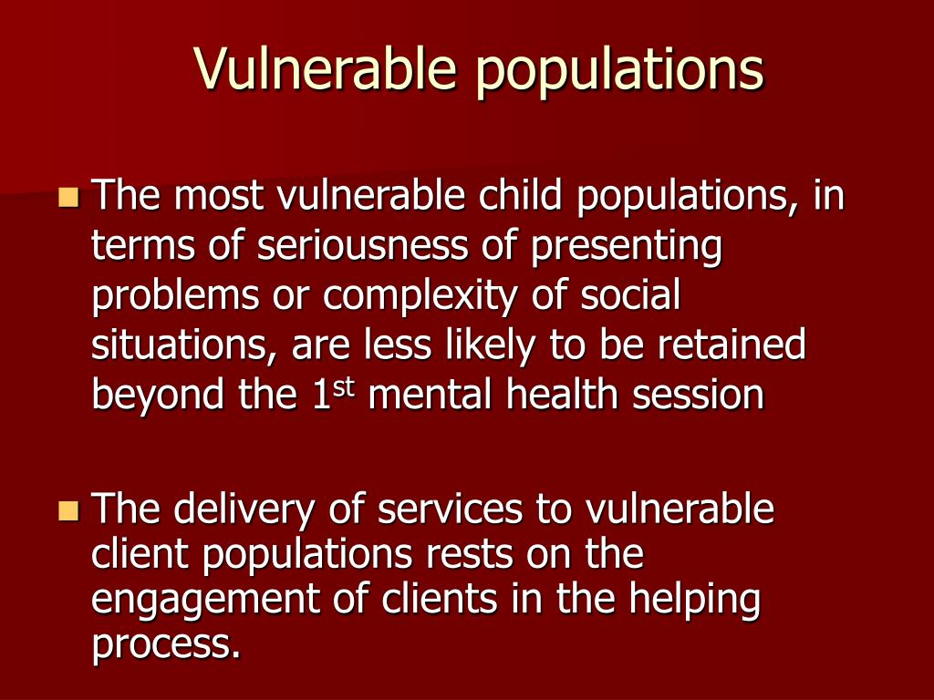 Vulnerable Populations Programs
