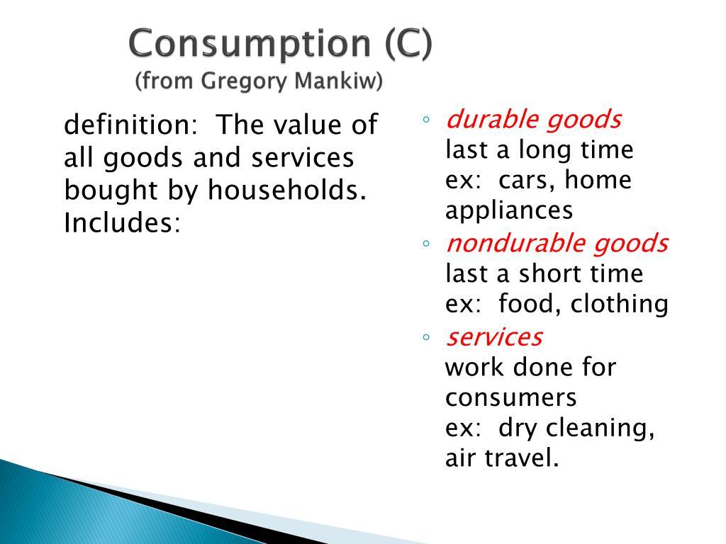 Consumption (C