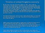 timeline of united kingdoms economy