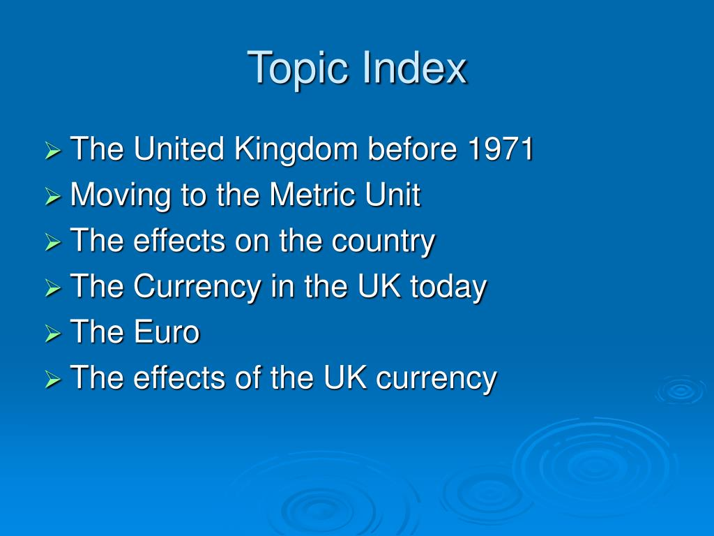 Topic Index