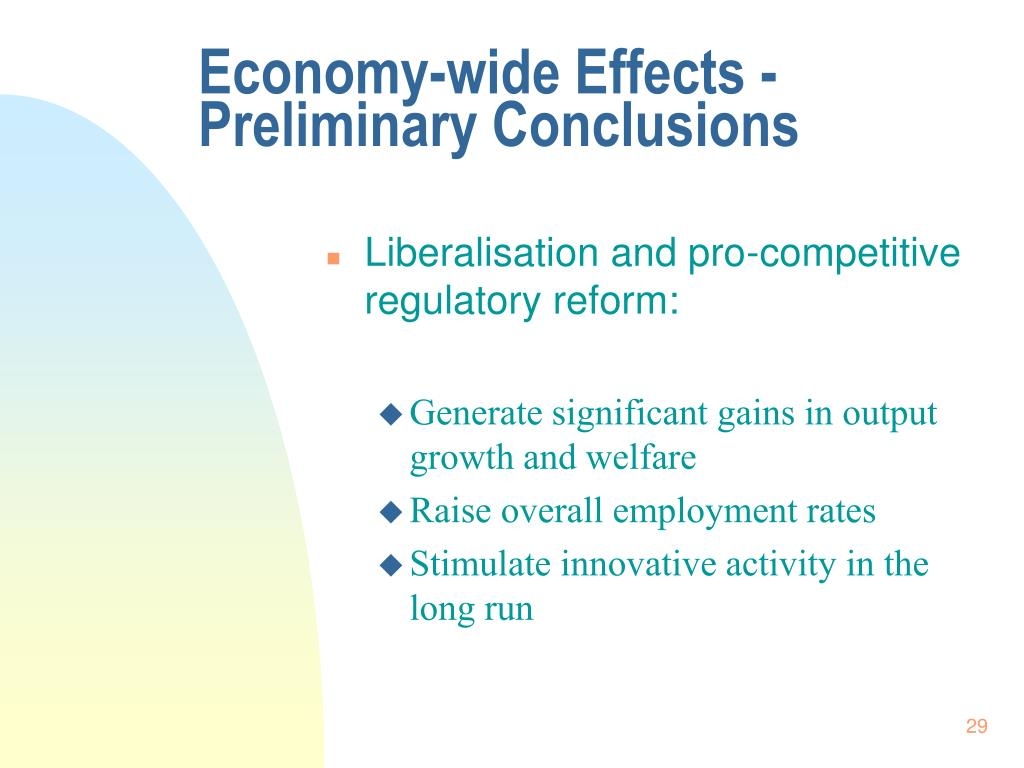 Economy-wide Effects - Preliminary Conclusions