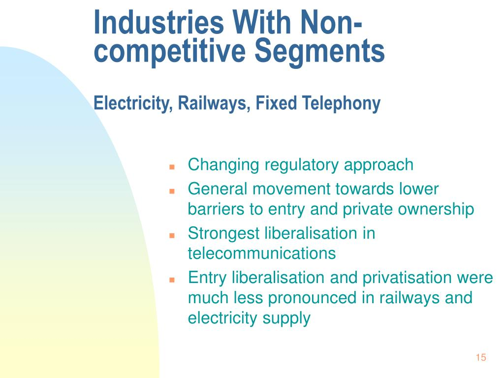 Industries With Non-competitive Segments