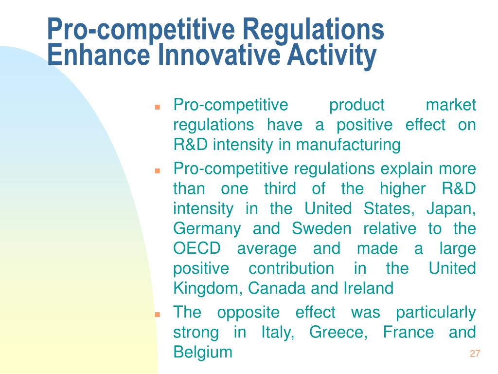 Pro-competitive Regulations Enhance Innovative Activity