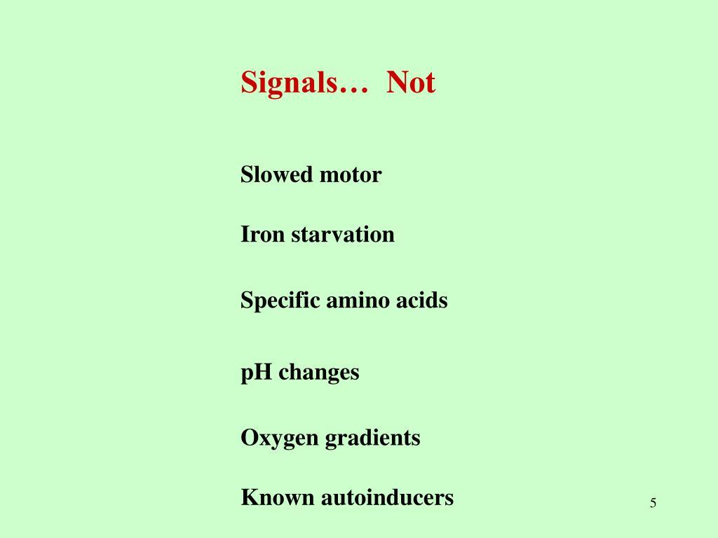 Signals…