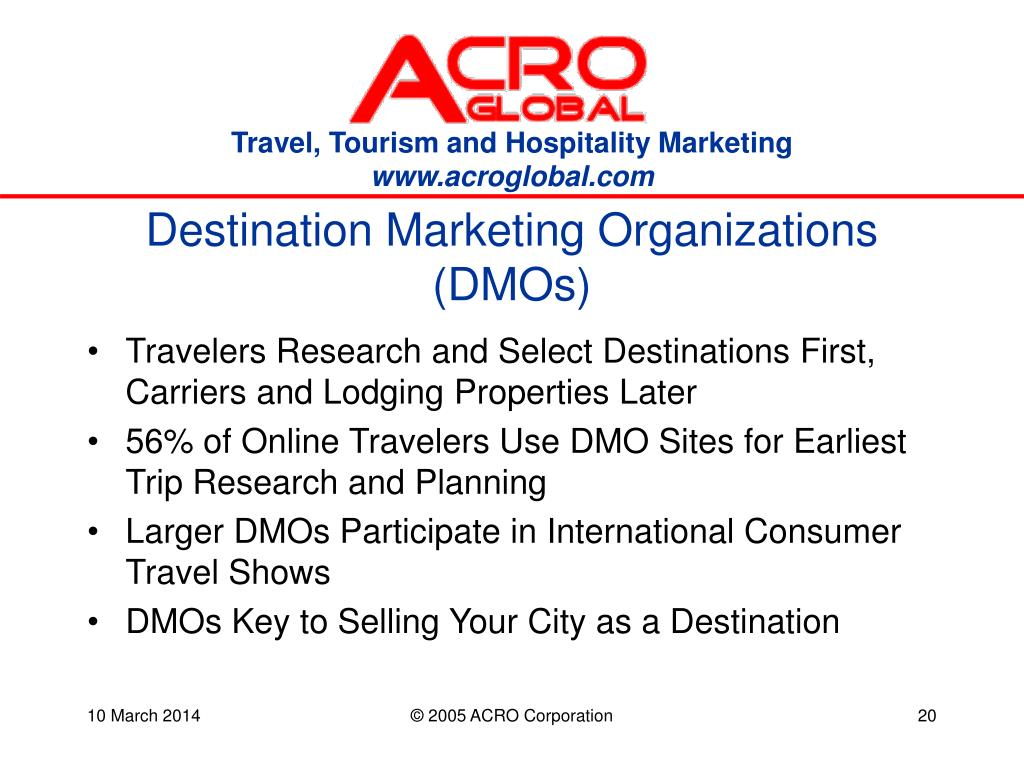 Destination Marketing Organizations (DMOs)