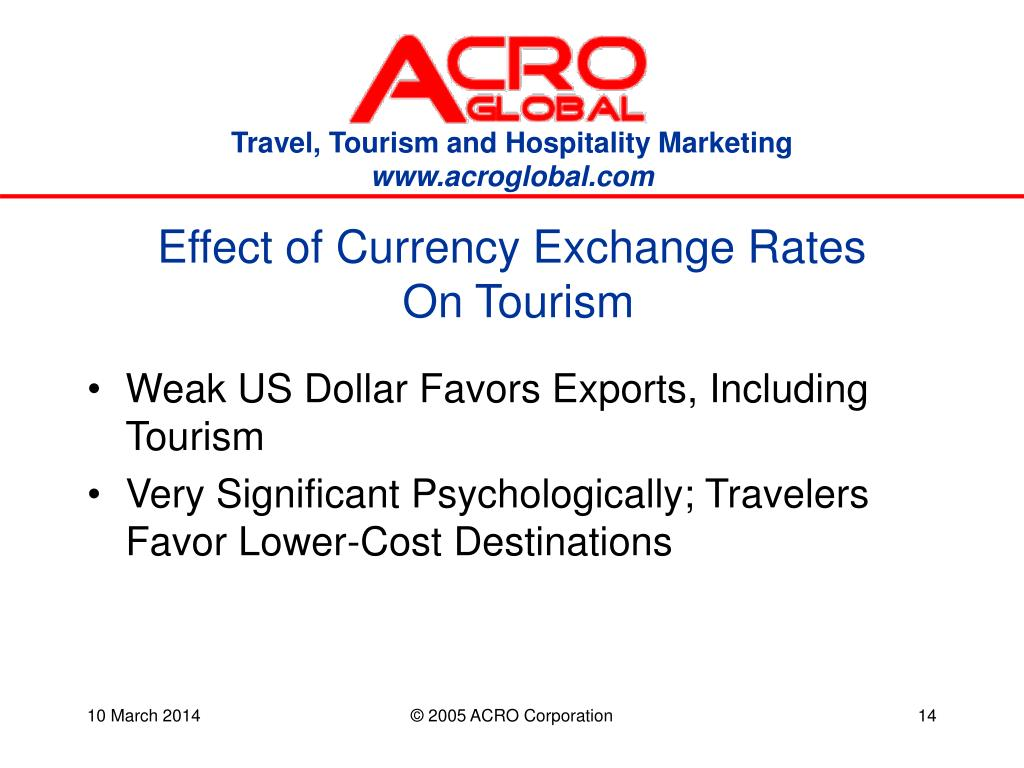 Effect of Currency Exchange Rates