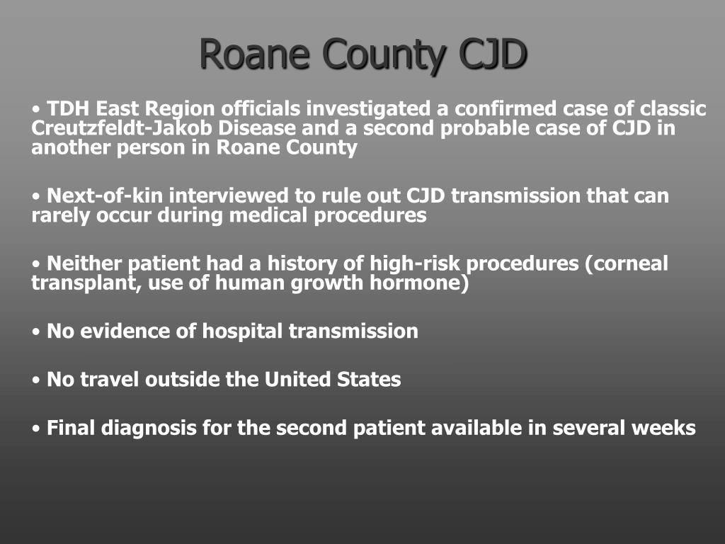 Roane County CJD