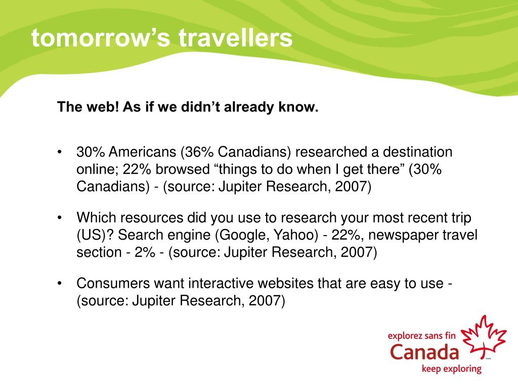 tomorrow's travellers