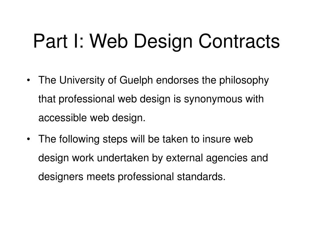 Part I: Web Design Contracts