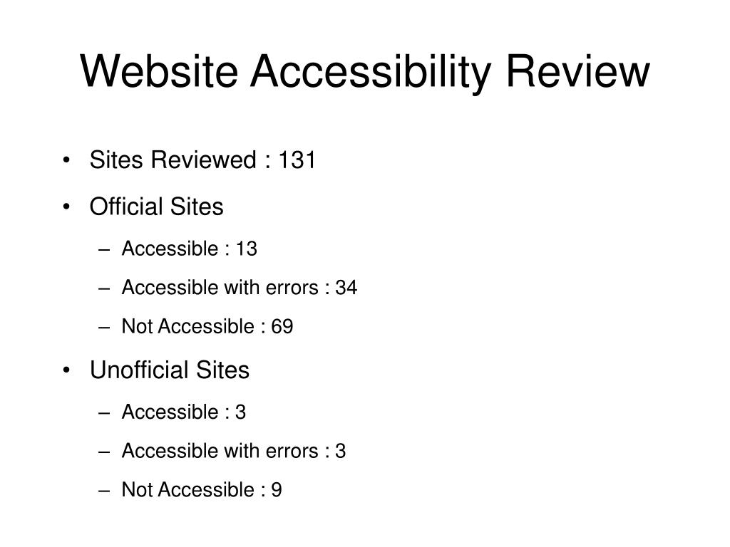 Website Accessibility Review