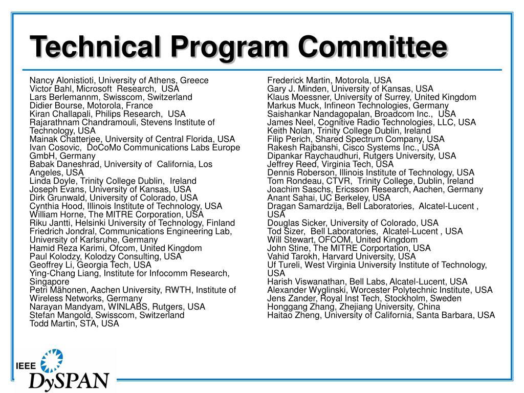 Technical Program Committee