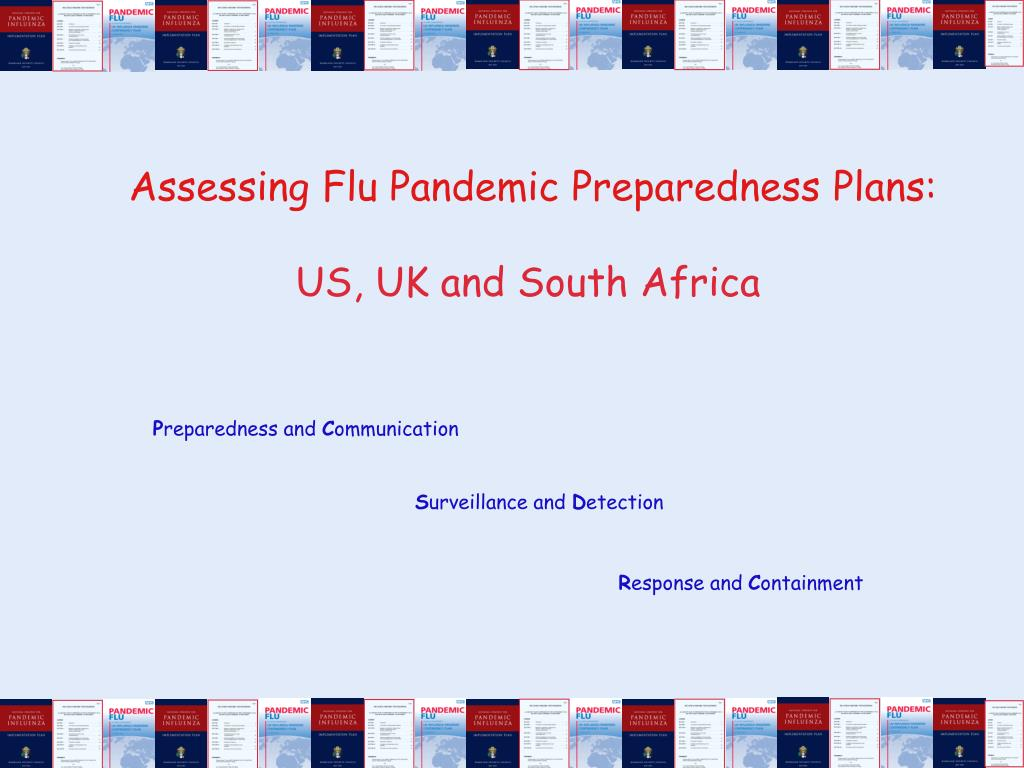 Assessing Flu Pandemic Preparedness Plans: