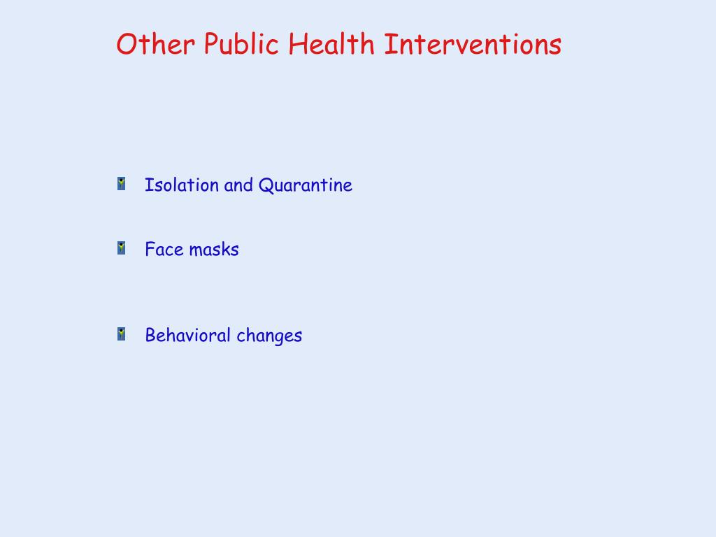 Other Public Health Interventions