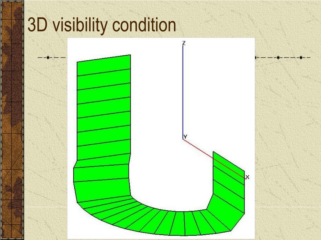 3D visibility condition