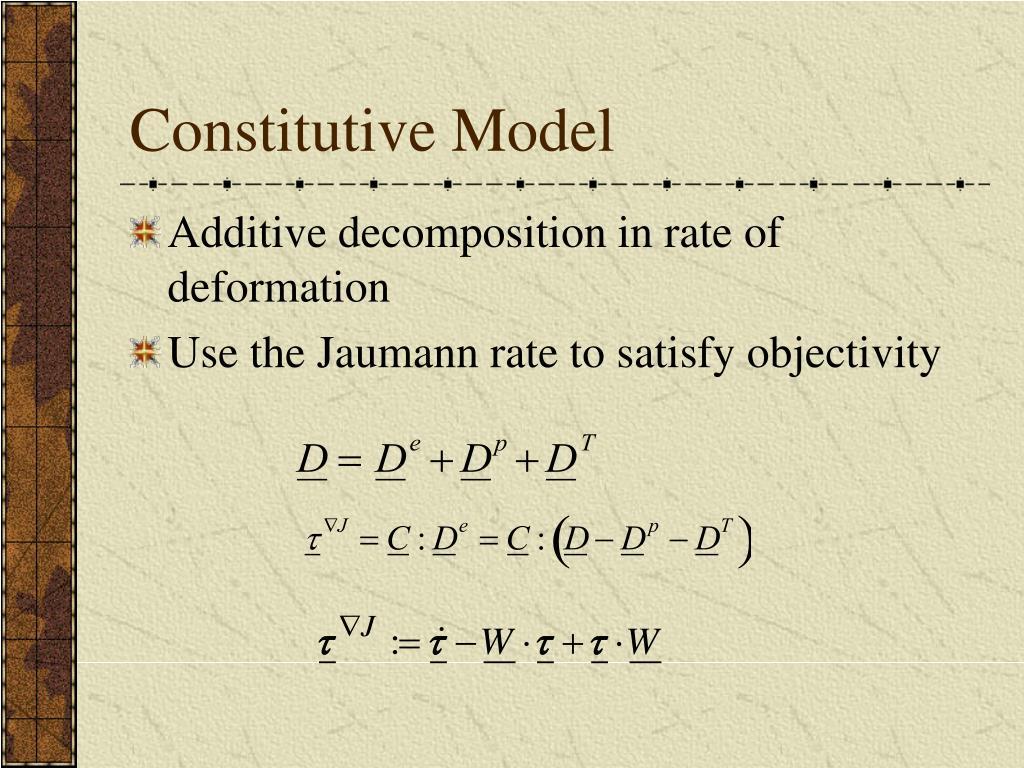 Constitutive Model