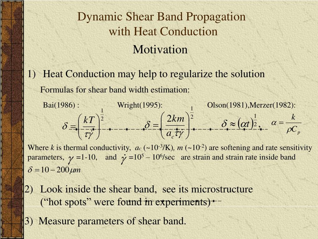 Dynamic Shear Band Propagation