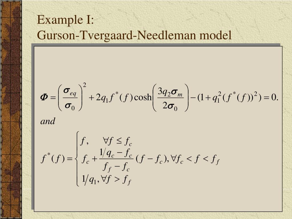 Example I: