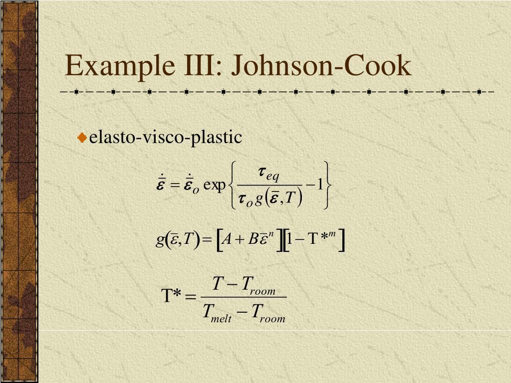 Example III: Johnson-Cook