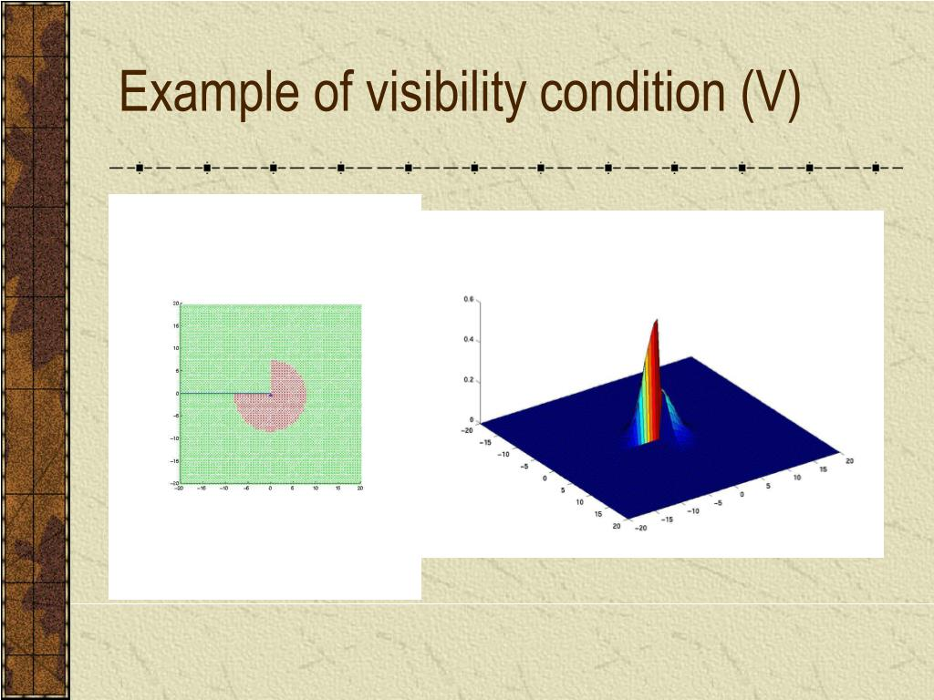 Example of visibility condition (V)