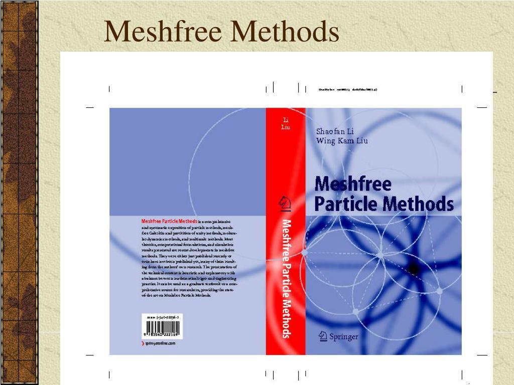 Meshfree Methods