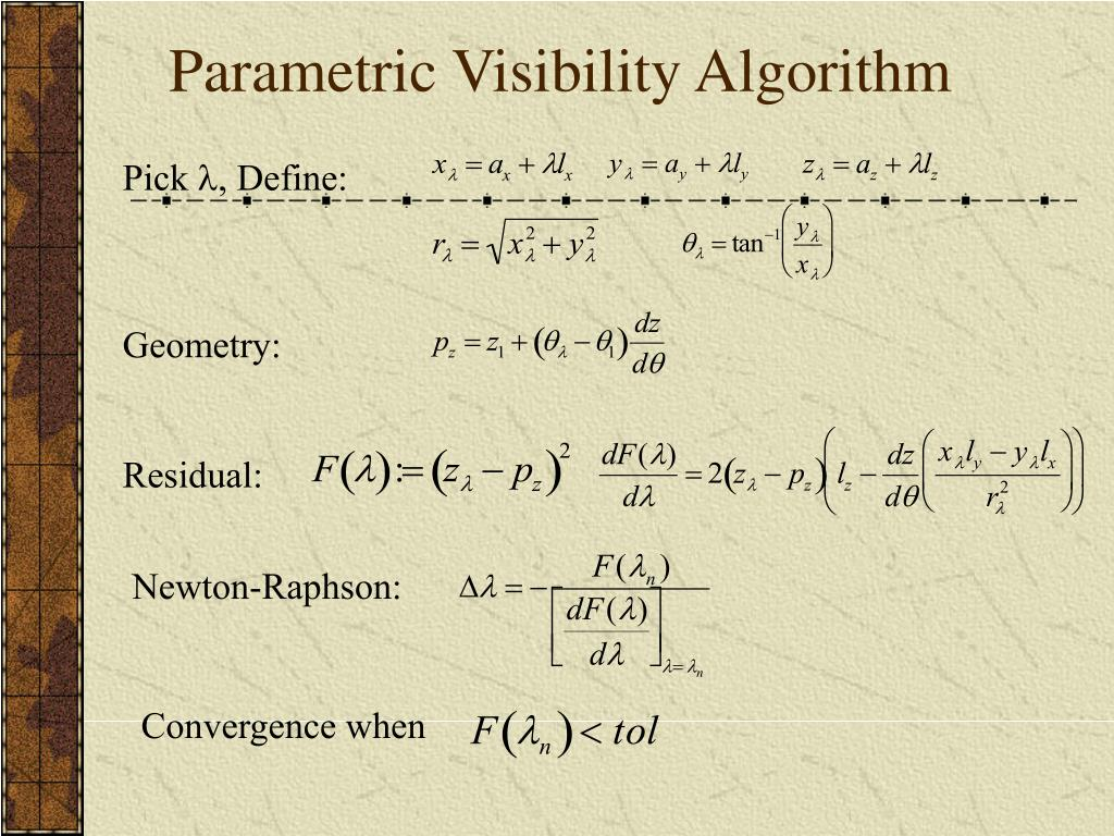Parametric Visibility Algorithm