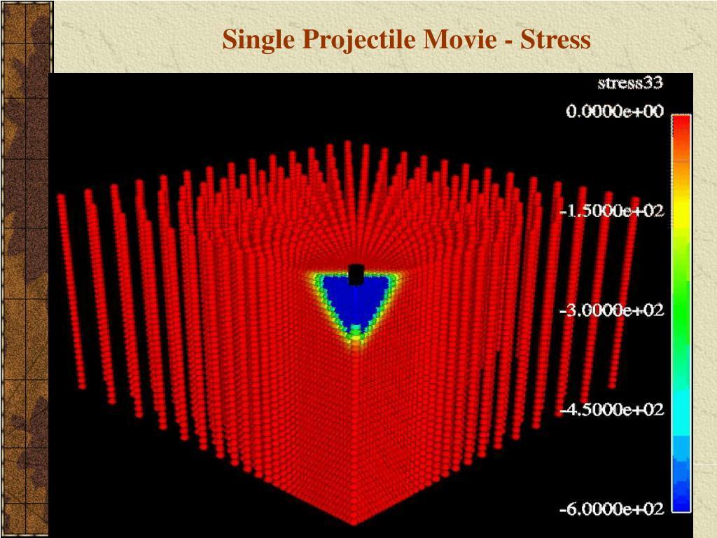 Single Projectile Movie - Stress