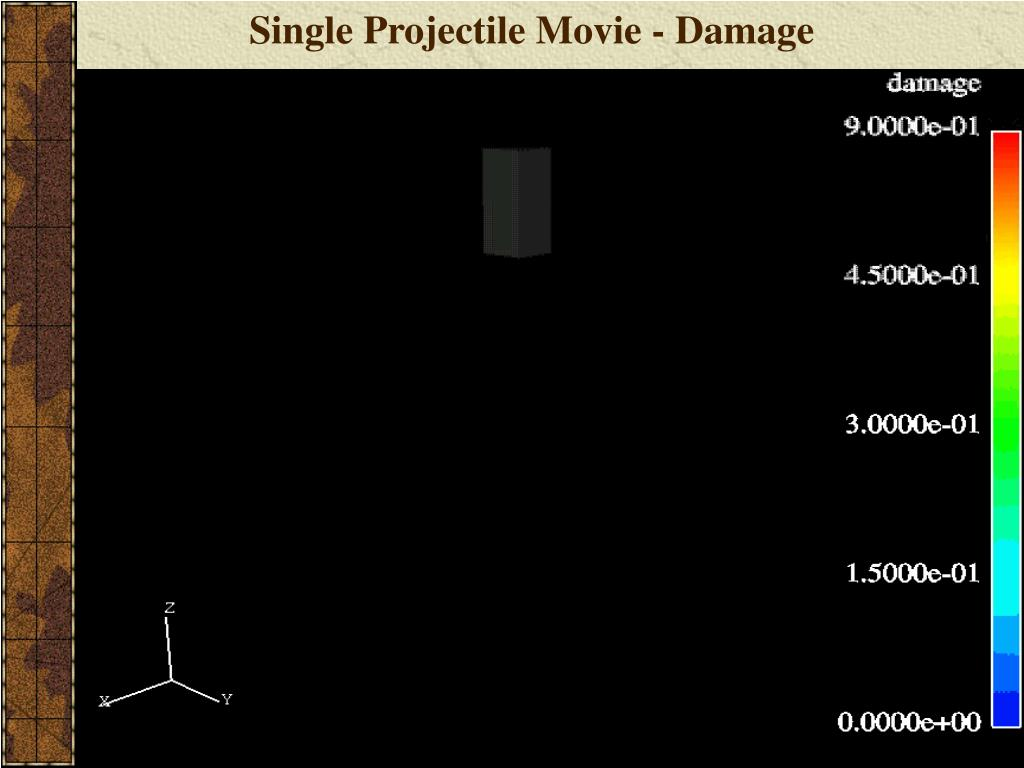 Single Projectile Movie - Damage