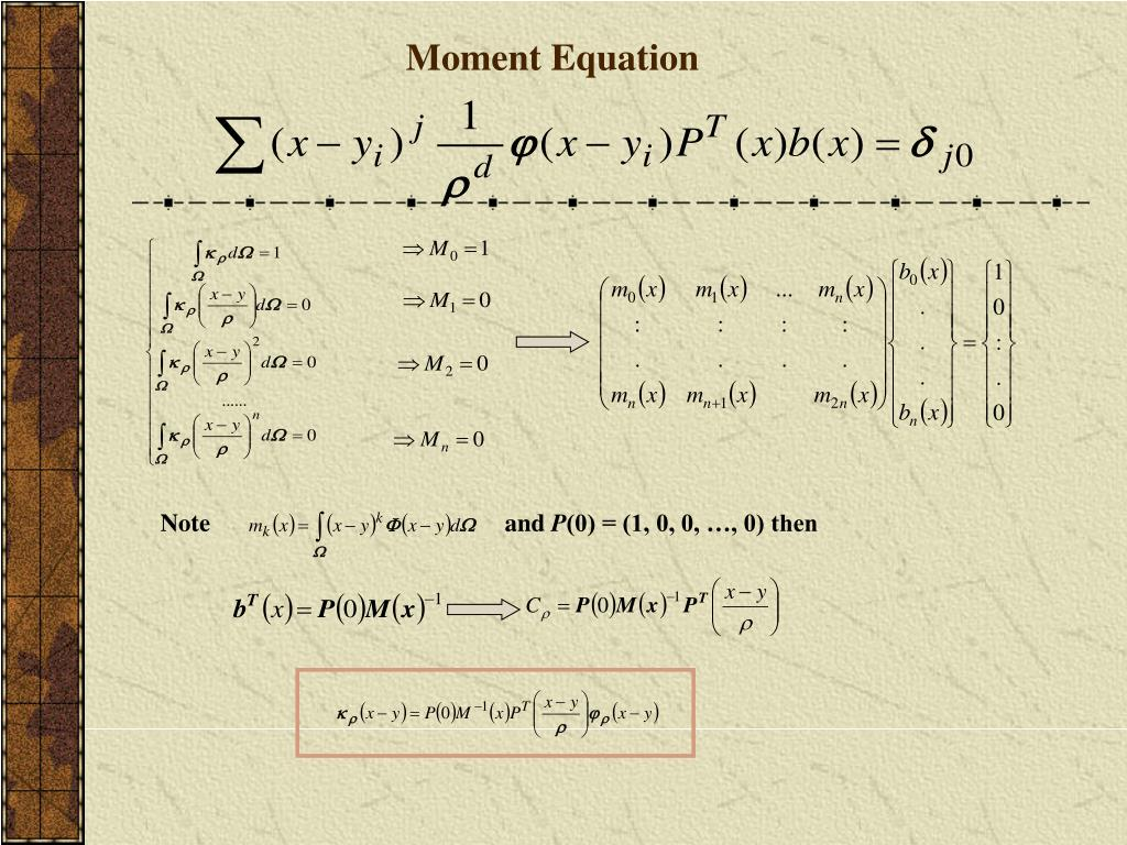 Moment Equation