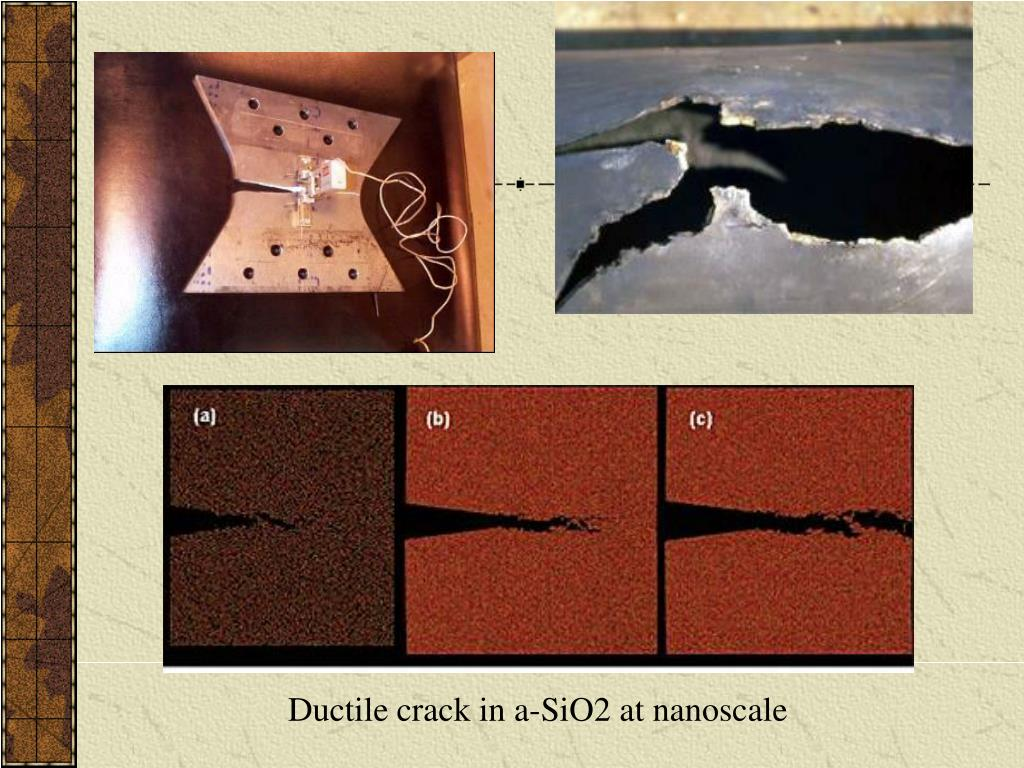 Ductile crack in a-SiO2 at nanoscale