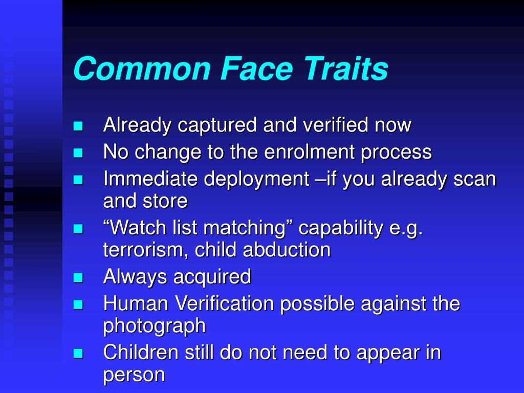 Common Face Traits