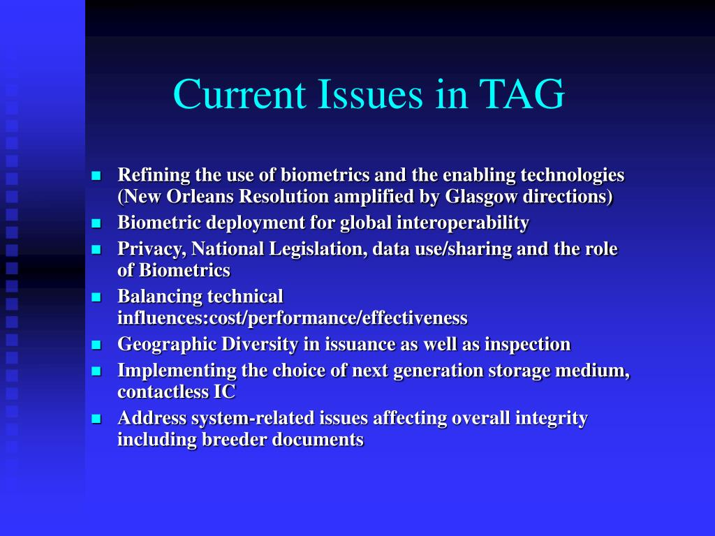 Current Issues in TAG