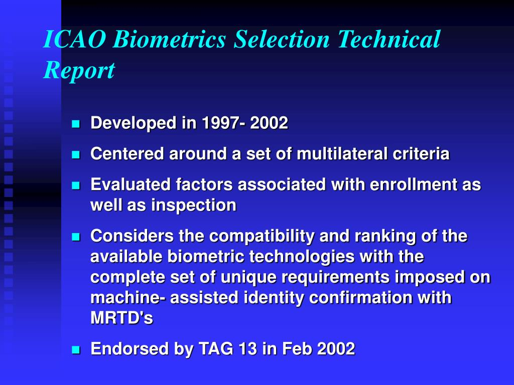 ICAO Biometrics Selection Technical Report