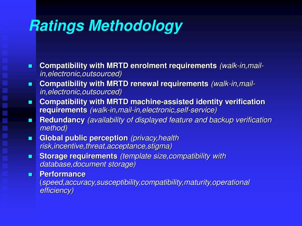 Ratings Methodology