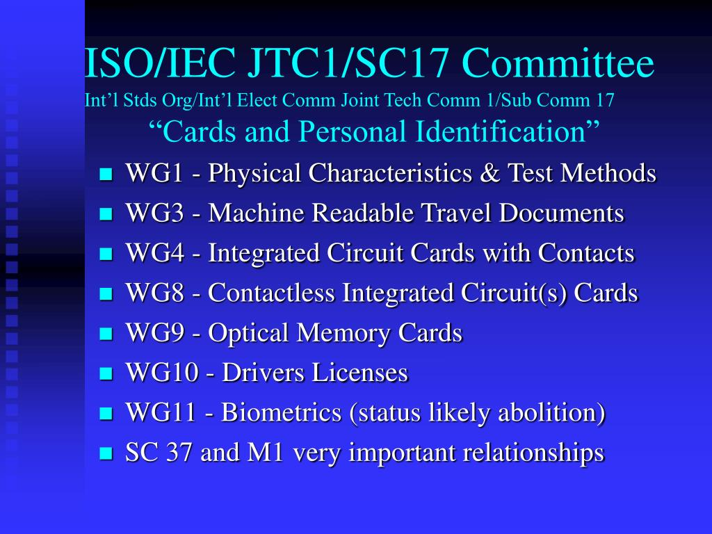 ISO/IEC JTC1/SC17 Committee