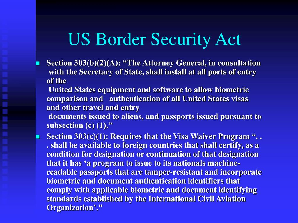 US Border Security Act